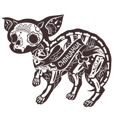Vector Floral Chihuahua