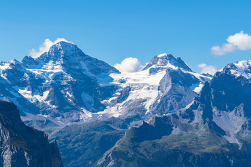 Breithorn and Bernese Alps