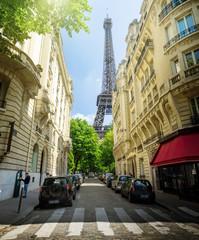 building in Paris near Eiffel Tower