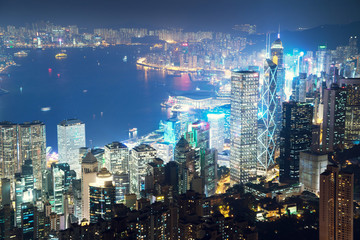 Hong kong from the Victoria peak