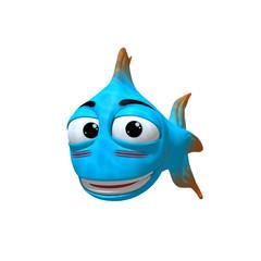 3D Cartoon Gülümseyen Balık