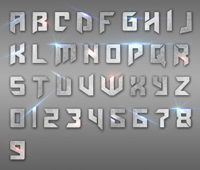 Metal alphabet - EN