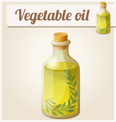 Vegetable oil. Detailed Vector Icon