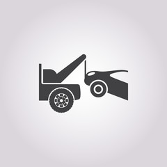 towtruck icon on white background