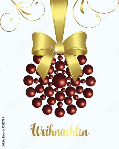 Weihnachtsdeko Gold.Weihnachtsdeko Dekoration Perle Design Rot Gold Schmuck