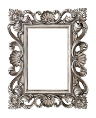 Frame your picture, photo, image. Vintage silver baroque object
