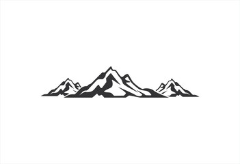 landscape alpine mountain logo