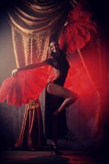 Photo sur Plexiglas Carnaval cabaret show