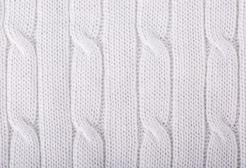 White knitted background.