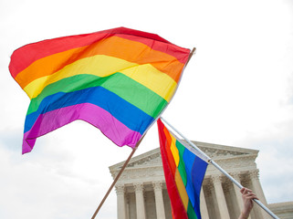 Gay Pride Flags at the U.S. Supreme Court