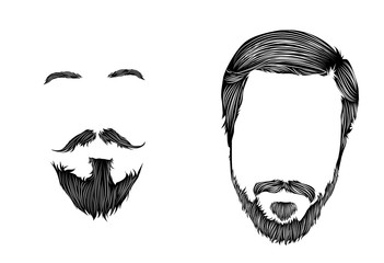 Beard and moustache