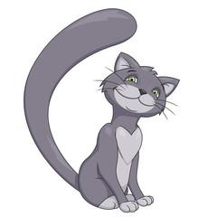 Smiling gray cat 2