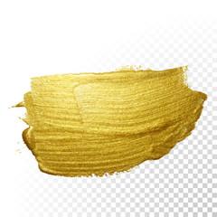 Vector gold paint brush stroke.