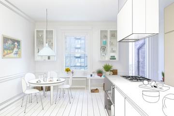Renovierung einer Küche (Entwurf)