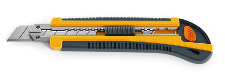 Yellow box cutter Fototapete
