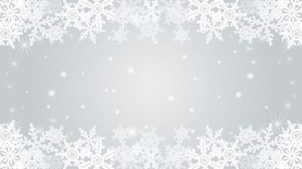 Snowflake  border frame -Silver color