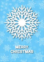 Christmas greeting card snoflakes.