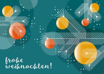 Grafik: Weihnachten, Tannenbaum, Kugeln