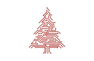 Christmas tree circuit electrick logo