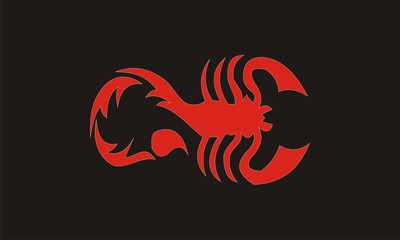 red scorpion design