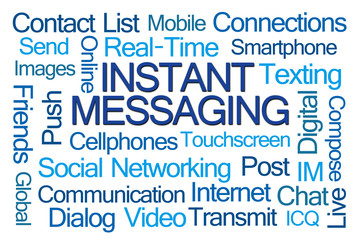 Instant Messaging Word Cloud