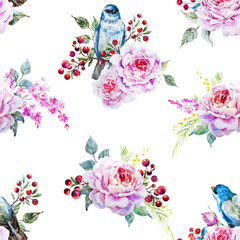 Vector bird pattern