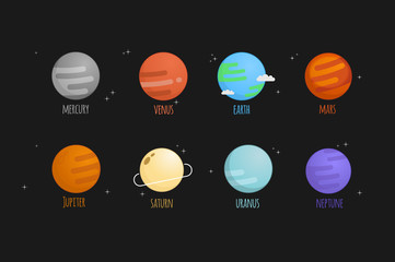 The solar system vector illustration