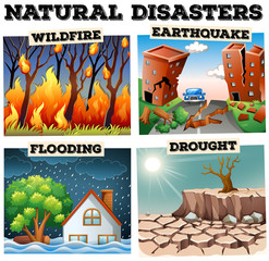 Different type of natural disasters