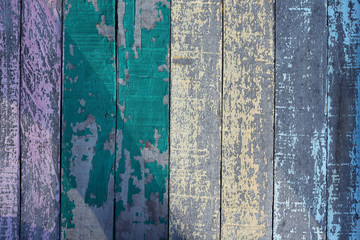 grunge colorful wooden panel