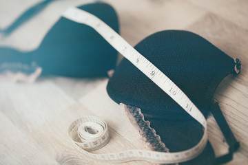bra with centimeter for measurement