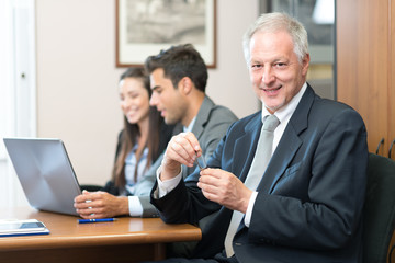 Business people in their office