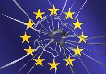 Drapeau Europe_violence