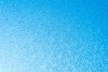 Snowflake on glass