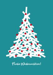 Weihnachtsgruß, Weihnachten, Grafik, geometrische Formen