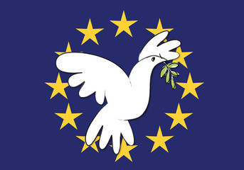 Drapeau Europe_Colombe de la paix