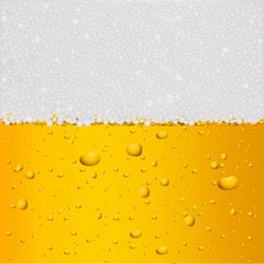 Beer background with drops.