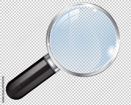 """Transparent Magnifying Glass. Search Icon"" Stock Image"