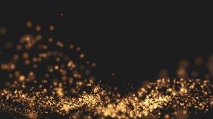 Gold background Wave motion