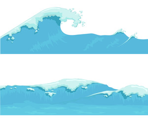 Blue Ocean Wave, giant wave