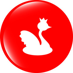 vector web icon button swan