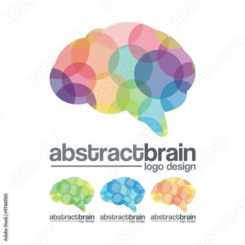"dot abstract brain design logo vector"" stock image and royalty"