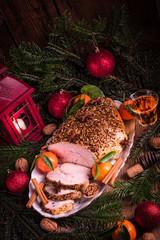 Christmas roast turkey