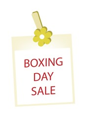 Boxing Day Photos Frame with Yellow Flower