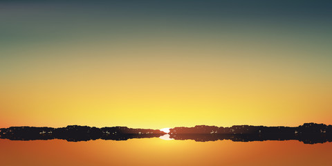 Paysage Couche de soleil