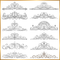 Calligraphic Frames Vector Set