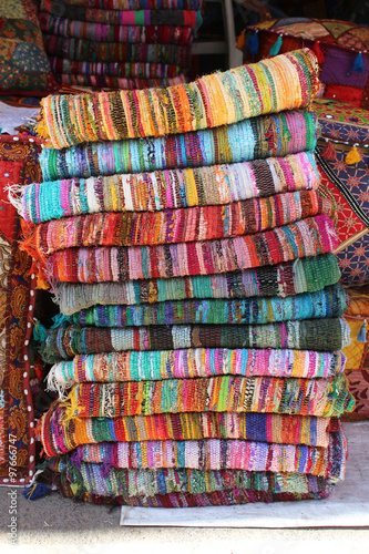 Tapis Indien Fibres Recycles Stock Photo And Royalty Free