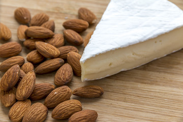 Brie Cheese with Almond Nuts.