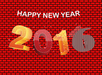 happy new year 2016_brick