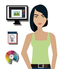 Creative ideas graphic designer
