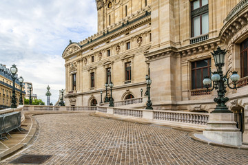 Architectural details of Opera National (Garnier Palace). Paris.